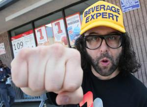 Judah Friedlander Appearance At 7-Eleven - Los Angeles, CA