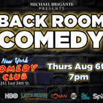 BACKROOM COMEDY POSTER